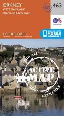 OS Explorer Map Active (463) Orkney - West Mainland