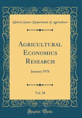 Agricultural Economics Research, Vol. 28