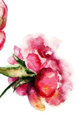 Watercolor Pink Flowers Journal