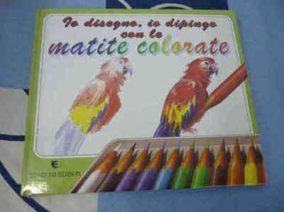 Io disegno, io dipingo con le matite colorate