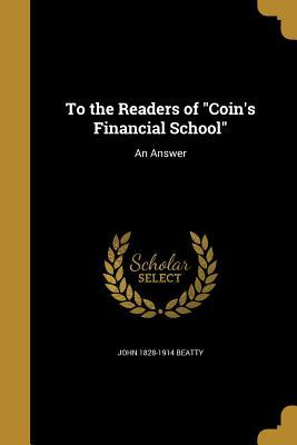 TO THE READERS OF COINS FINANC