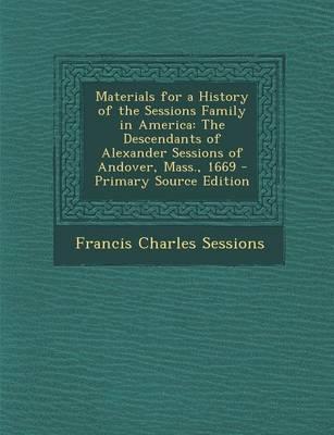 Materials for a Hist...