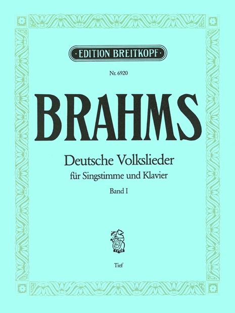 Deutsche Volkslieder für Singstimme und Klavier, Band 1