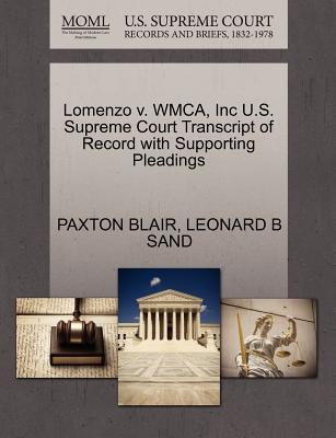 Lomenzo V. Wmca, Inc U.S. Supreme Court Transcript of Record with Supporting Pleadings