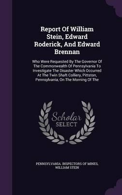 Report of William Stein, Edward Roderick, and Edward Brennan