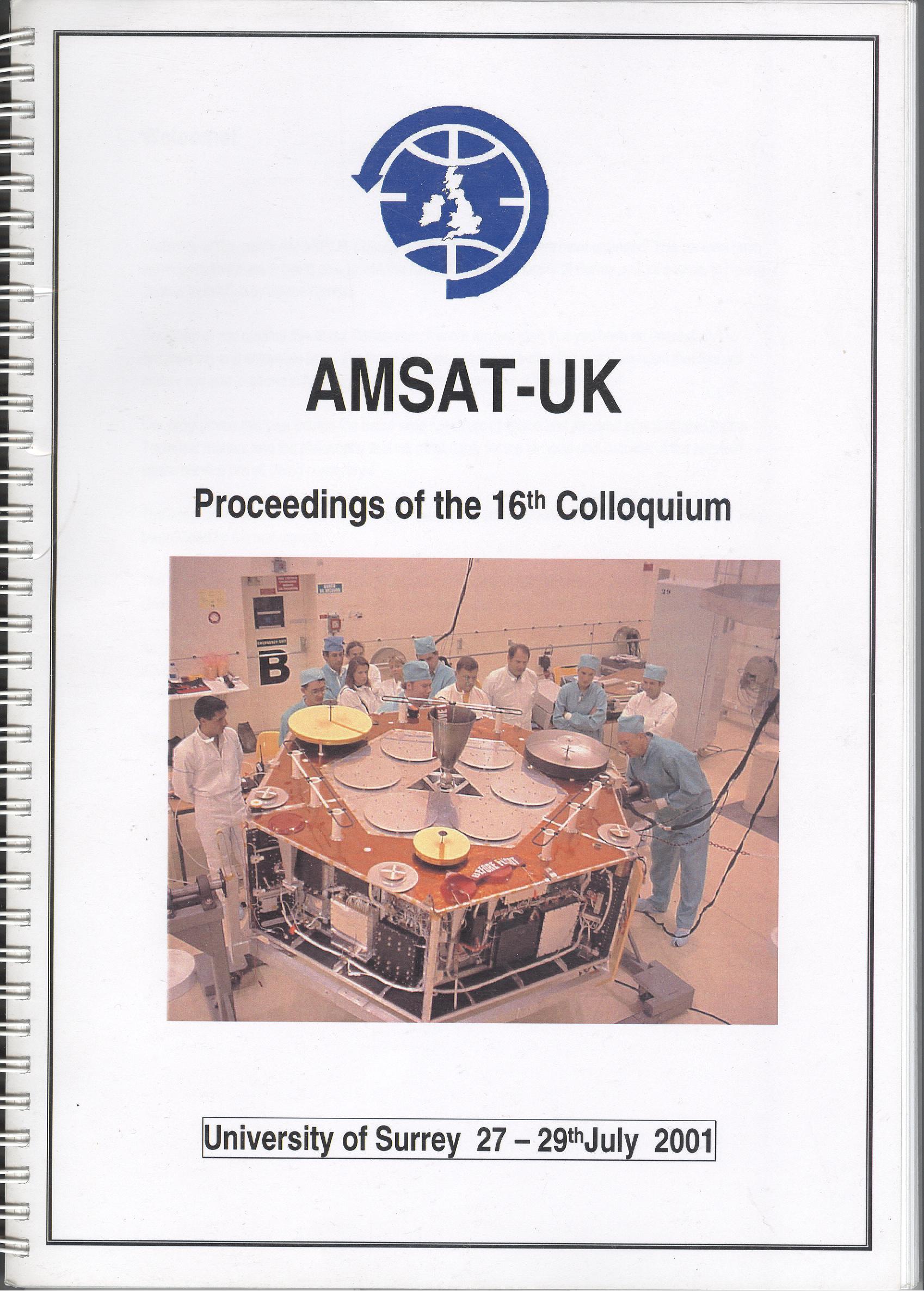 The Proceedings of the 16th AMSAT-UK Colloquium 2001