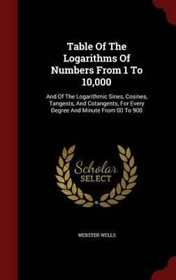 Table of the Logarithms of Numbers from 1 to 10,000