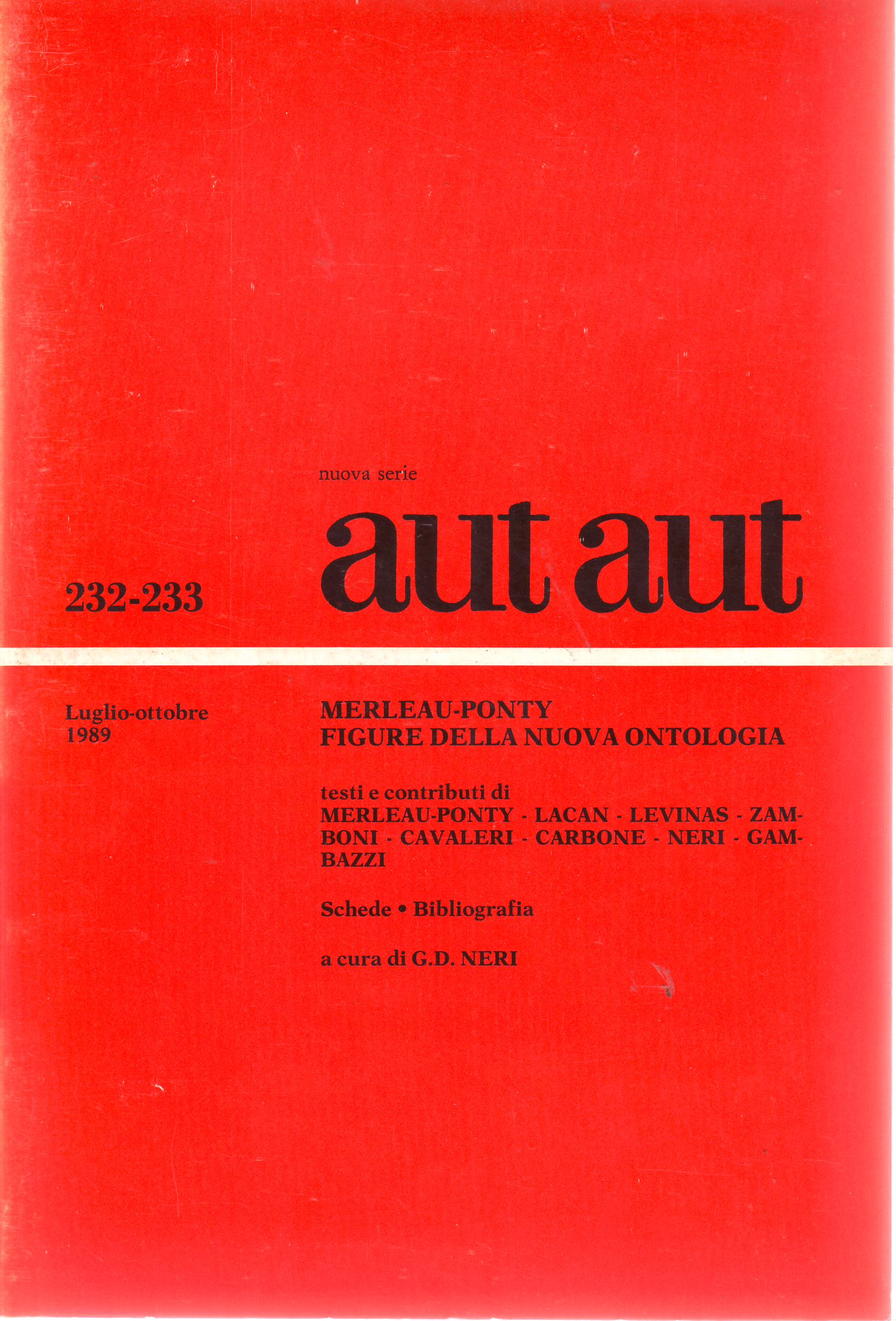 Merleau-Ponty. Figure della nuova ontologia