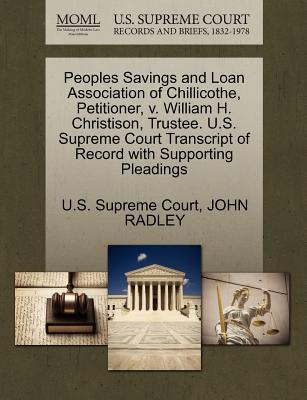 Peoples Savings and Loan Association of Chillicothe, Petitioner, V. William H. Christison, Trustee. U.S. Supreme Court Transcript of Record with Suppo