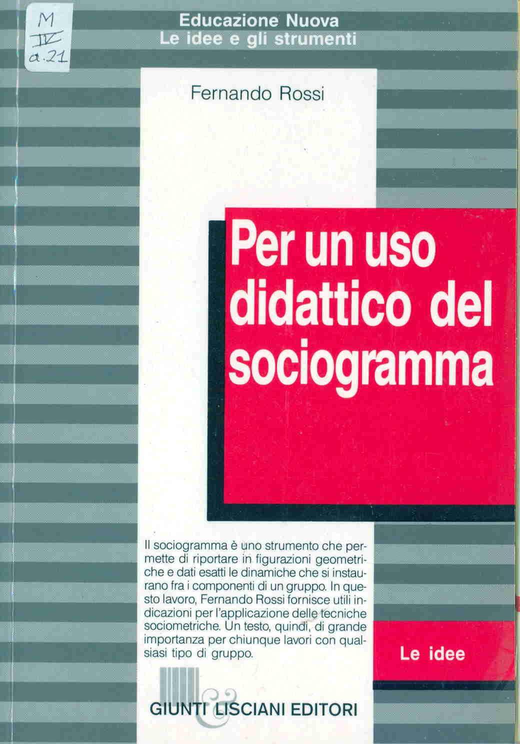 Per un uso didattico del sociogramma
