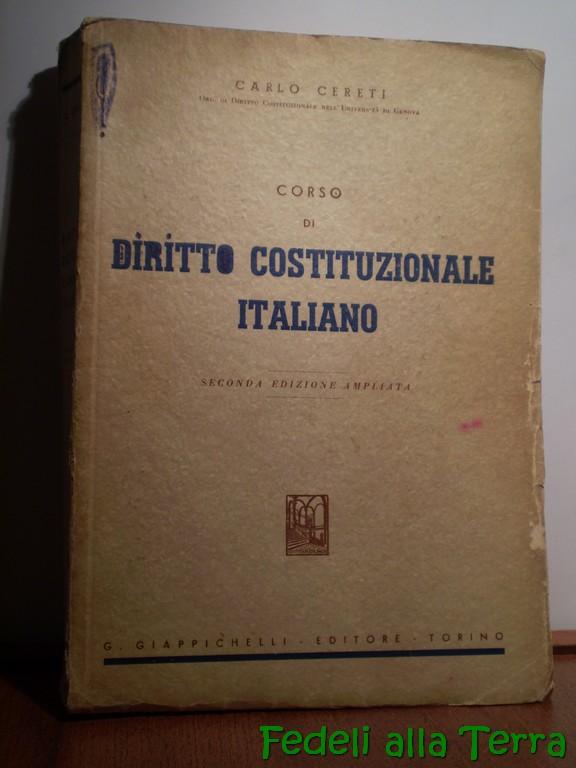 Corso di diritto costituzionale italiano