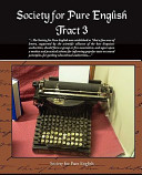 Society for Pure English Tract 3