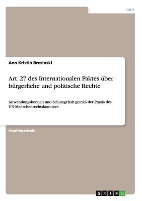 Art. 27 des Internationalen Paktes über bürgerliche und politische Rechte