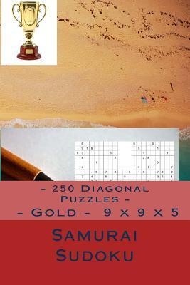 Samurai Sudoku - 250 Diagonal Puzzles - Gold - 9 X 9 X 5