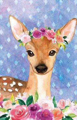 Journal Notebook For Animal Lovers Female Deer In Flowers