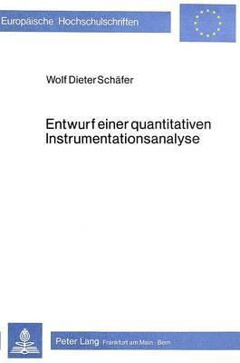 Entwurf einer quantitativen Instrumentationsanalyse