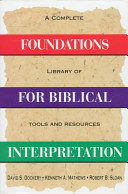 Foundations for Biblical Interp