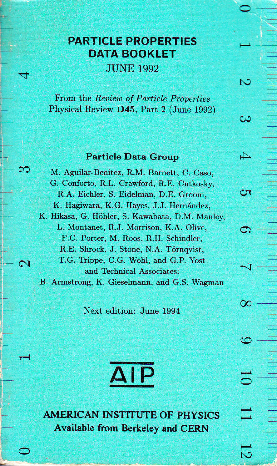 Particle Properties Data Booklet