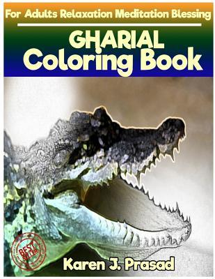 GHARIAL Coloring book for Adults Relaxation Meditation Blessing