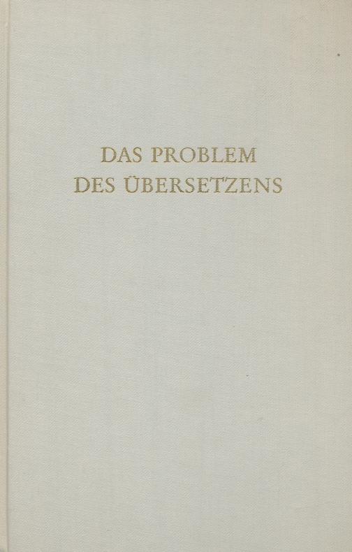 Das Problem des Übersetzens