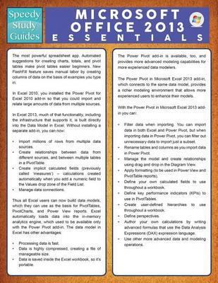 Microsoft Office 2013 Essentials (Speedy Study Guide)