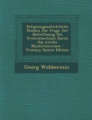 Religionsgeschichtliche Studien Zur Frage