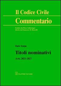 Titoli nominativi. Artt. 2021-2027