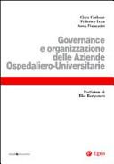Governance e organizzazione delle aziende ospedaliero-universitarie