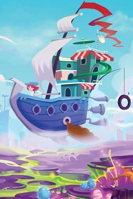 Sky Ship over Toonland Blank Book
