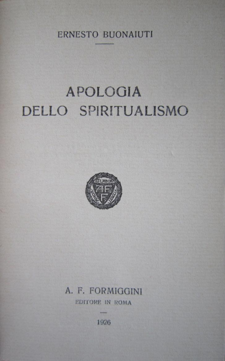 Apologia dello spiritualismo