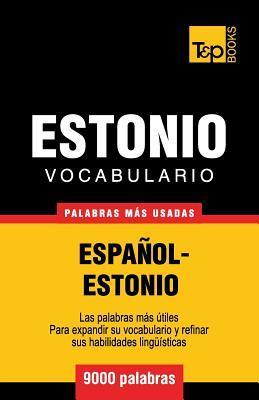 Vocabulario español-estonio - 9000 palabras más usadas