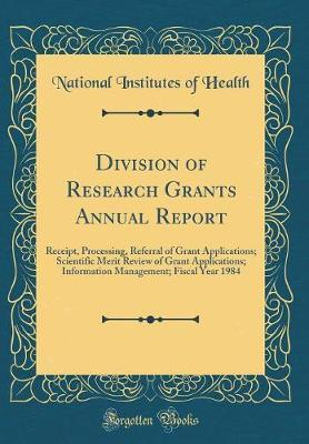 Division of Research Grants Annual Report