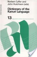 Dictionary of the Kanuri language