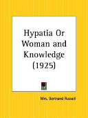Hypatia Or Woman and Knowledge