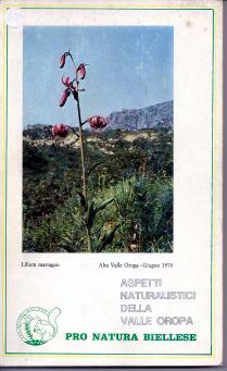 Aspetti naturalistici della Valle Oropa