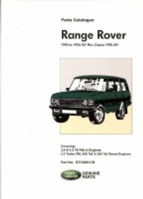 Range Rover Parts Catalog 1992-1994