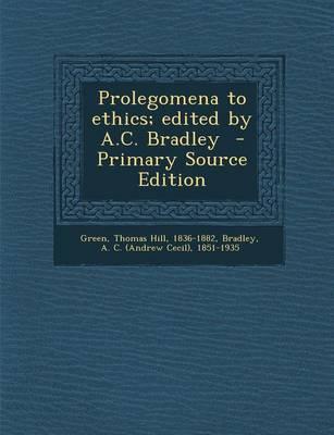 Prolegomena to Ethic...
