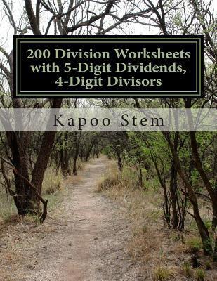 200 Division Worksheets With 5-digit Dividends, 4-digit Divisors
