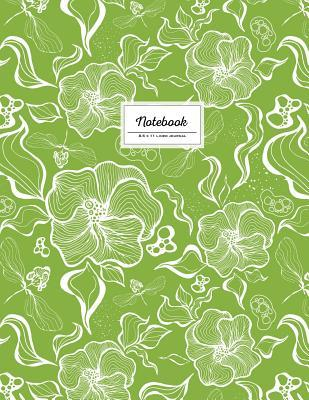 Greenery, Large Floral Notebook