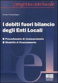 I debiti fuori bilancio degli Enti Locali