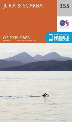OS Explorer Map (355) Jura and Scarba