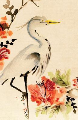 Asian Floral Crane Journal Notebook, 4x4 Quad Rule Graph Paper