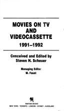 Movies on TV and Videocassette, 1991-1992