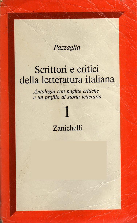Scrittori e critici della letteratura italiana
