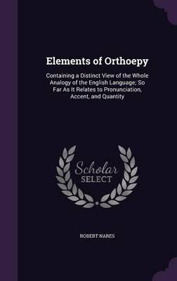 Elements of Orthoepy