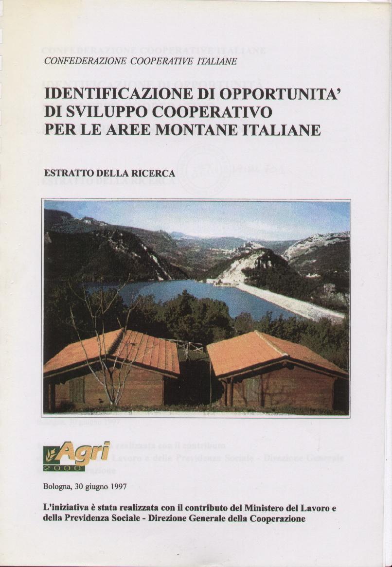 Identificazione di opportunità di sviluppo cooperativo per le aree montane italiane