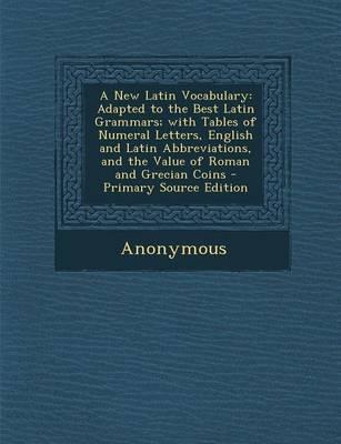 A New Latin Vocabulary