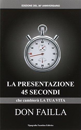 La presentazione 45 secondi. Che cambierà la tua vita