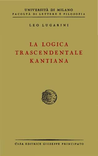 La logica trascendentale kantiana