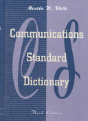 Communications Standard Dictionary